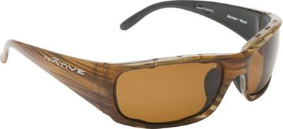 Native Eyewear Bomber Sunglasses Wood with Polarized Brown - Native Eyewear Eyewear
