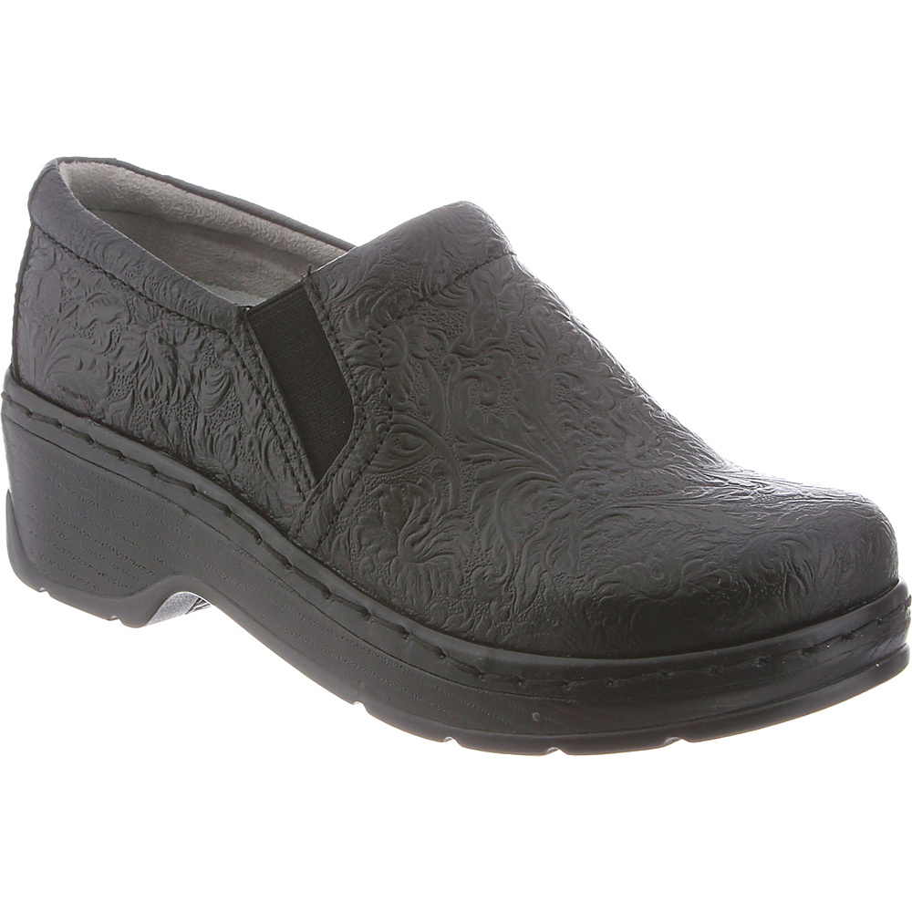 KLOGS Footwear Womens Naples 12 - W (Wide) - Black Tooled - KLOGS Footwear Womens Footwear - Apparel & Footwear, Women's Footwear