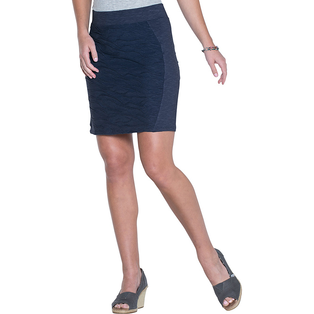Toad & Co Sama Sama Skirt M - Deep Navy - Toad & Co Womens Apparel - Apparel & Footwear, Women's Apparel