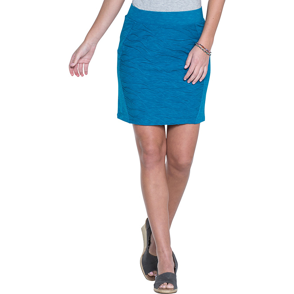 Toad & Co Sama Sama Skirt XL - Seaport - Toad & Co Womens Apparel - Apparel & Footwear, Women's Apparel