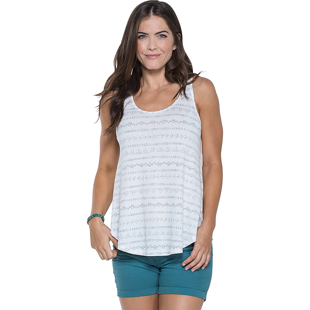 Toad & Co Papyrus Flowy Tank XS - Egret Line Print - Toad & Co Womens Apparel - Apparel & Footwear, Women's Apparel