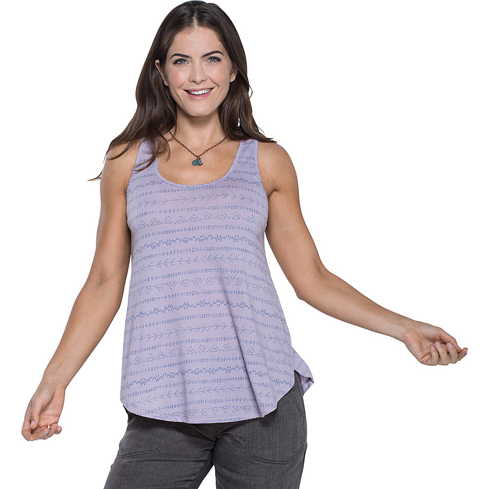 Toad & Co Papyrus Flowy Tank S - Nirvana Line Print - Toad & Co Womens Apparel - Apparel & Footwear, Women's Apparel