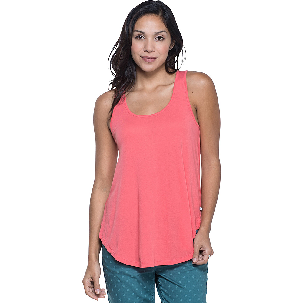 Toad & Co Papyrus Flowy Tank XS - Spiced Coral - Toad & Co Womens Apparel - Apparel & Footwear, Women's Apparel