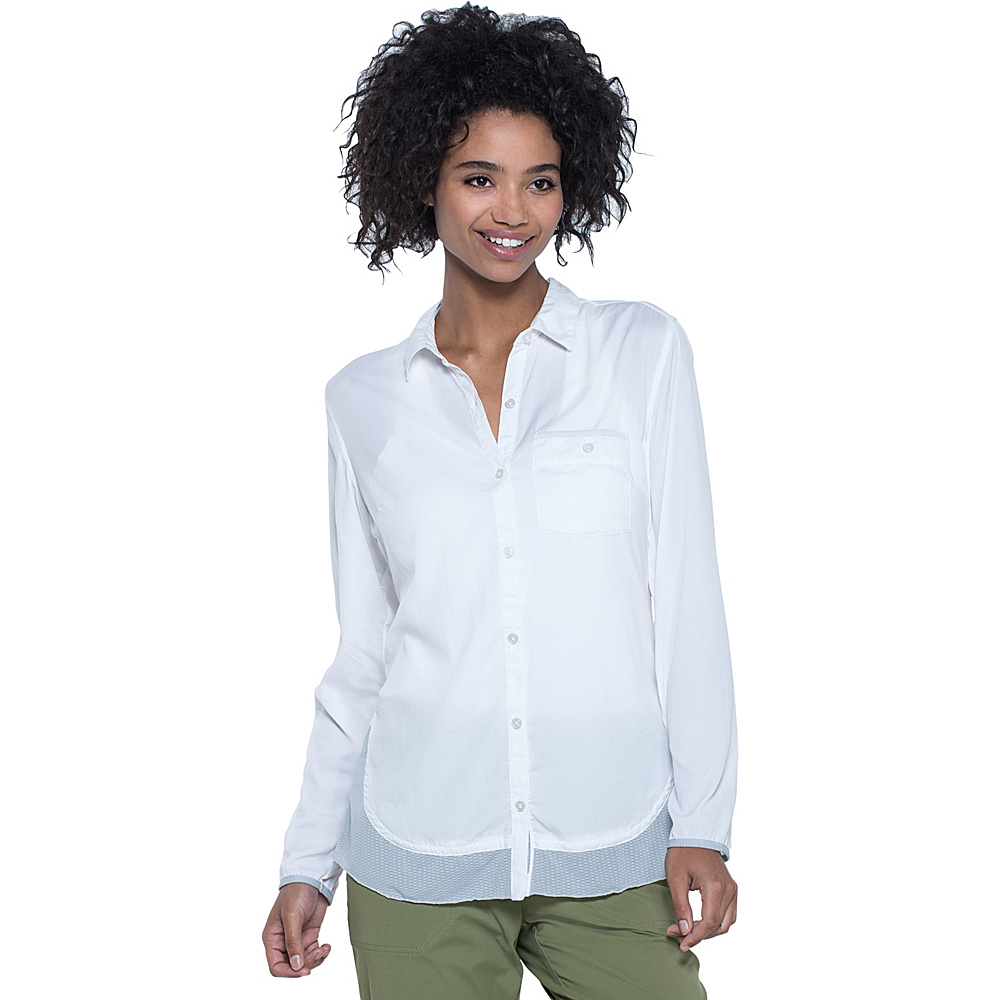 Toad & Co Debug Hike-Thru Long Sleeve Shirt XS - White - Toad & Co Womens Apparel - Apparel & Footwear, Women's Apparel