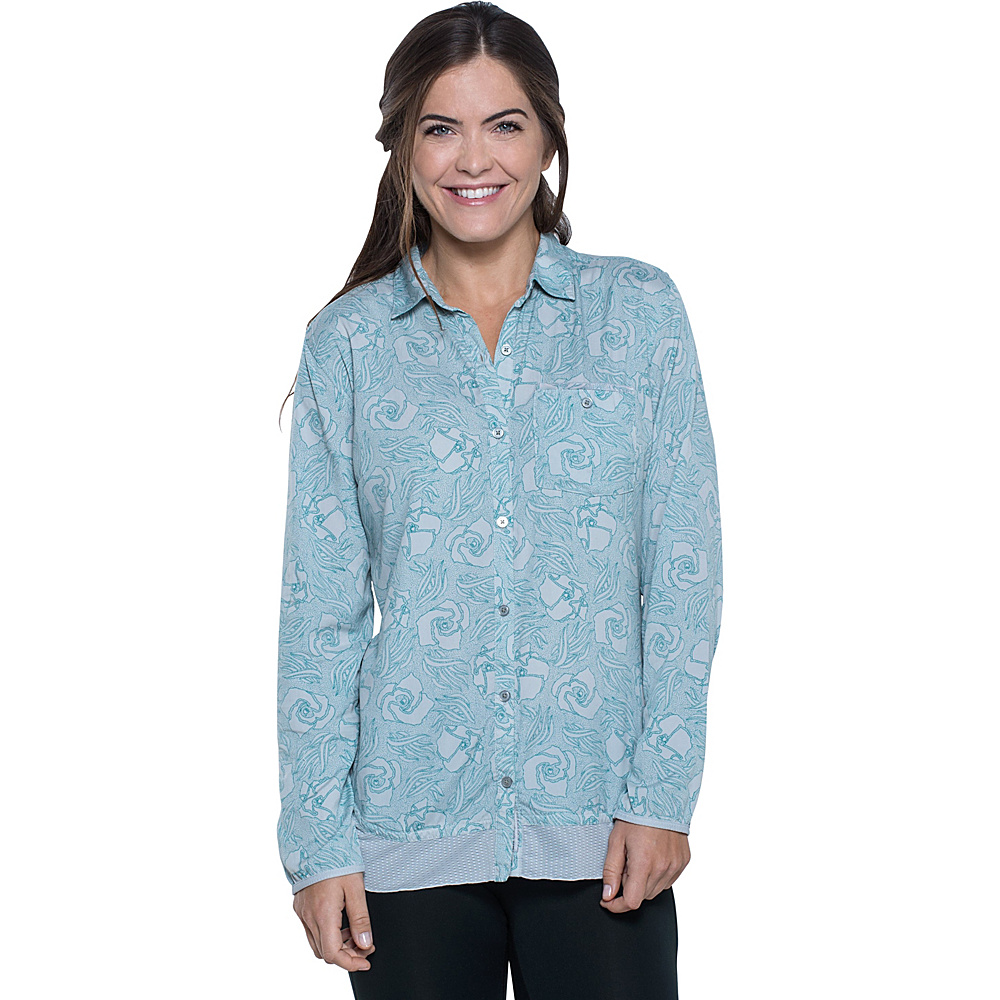 Toad & Co Debug Hike-Thru Long Sleeve Shirt XS - Chrome Floral Print - Toad & Co Womens Apparel - Apparel & Footwear, Women's Apparel