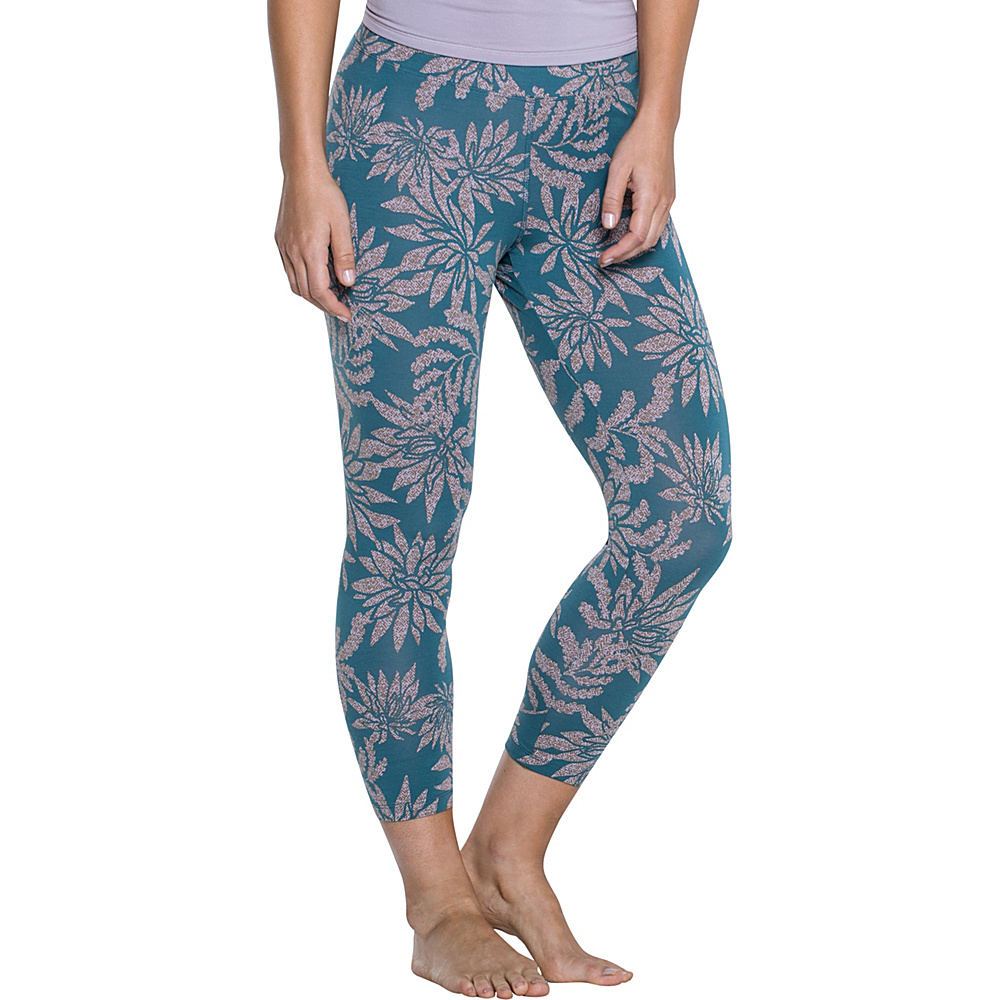 Toad & Co Print Lean Capri Legging L - 22in - Hydro Succulent Print - Toad & Co Womens Apparel - Apparel & Footwear, Women's Apparel