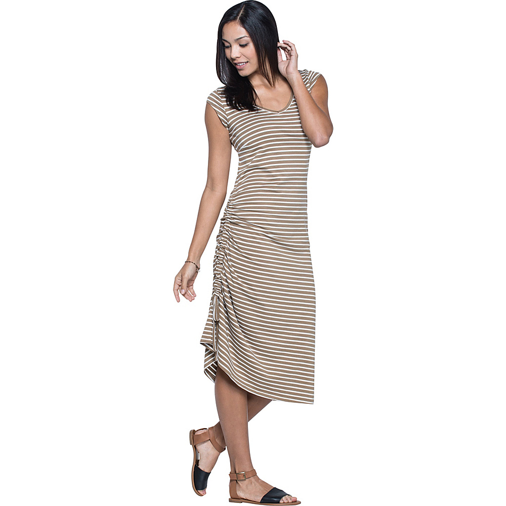 Toad & Co Muse Dress S - Honey Brown Stripe - Toad & Co Womens Apparel - Apparel & Footwear, Women's Apparel
