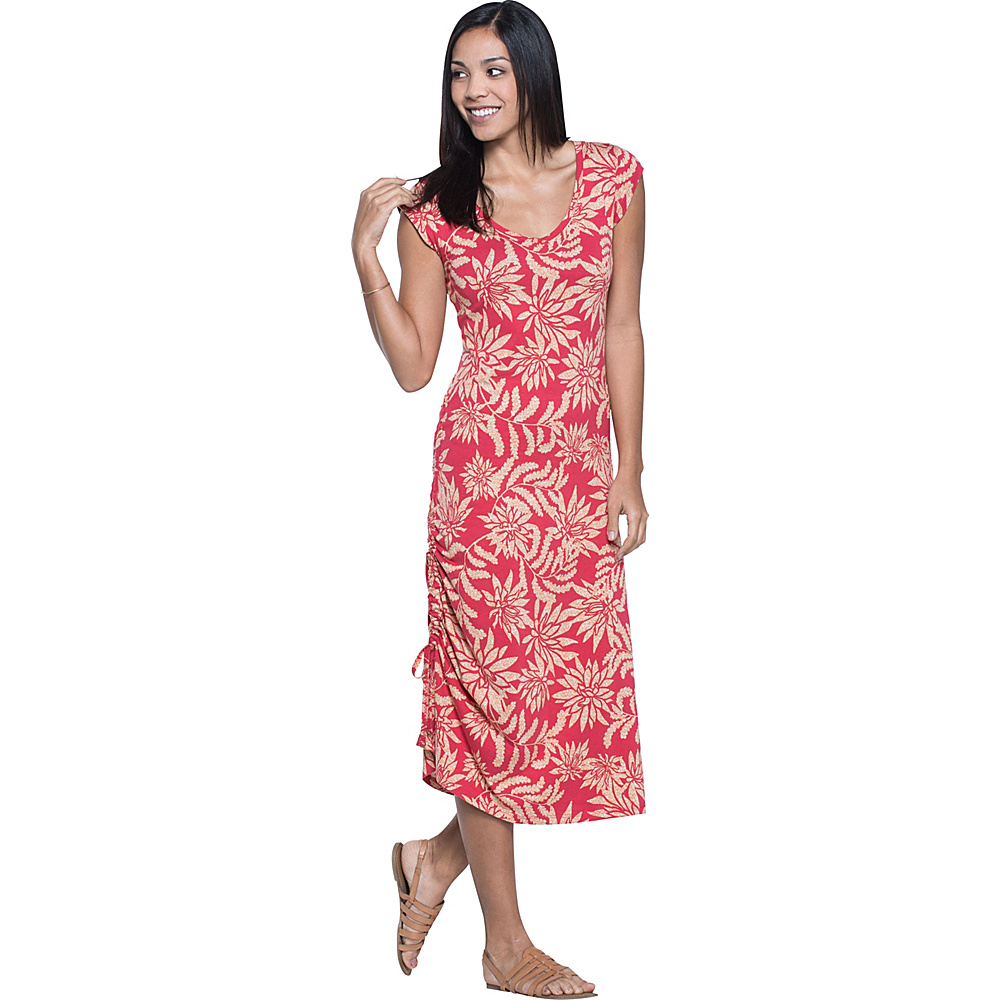 Toad & Co Muse Dress S - Parakeet Red Succulent Print - Toad & Co Womens Apparel - Apparel & Footwear, Women's Apparel