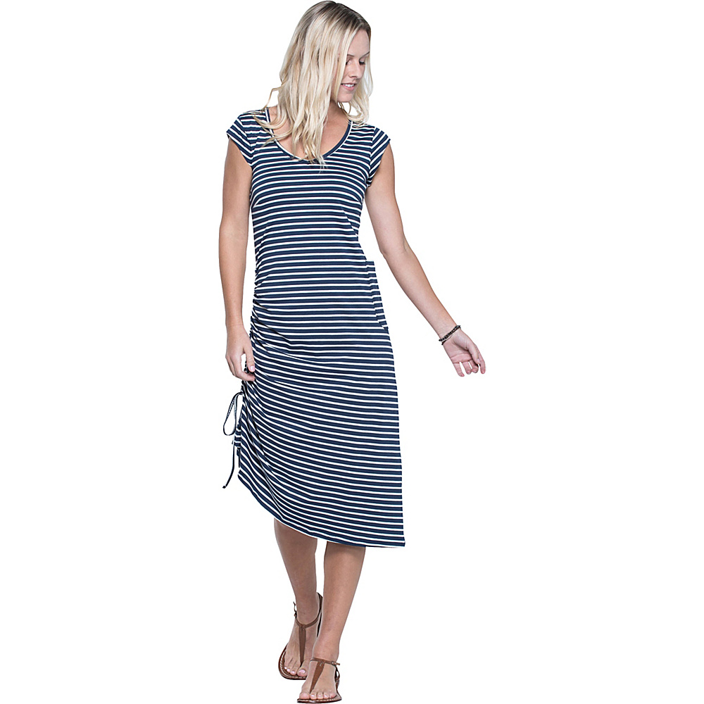 Toad & Co Muse Dress S - Deep Navy Balanced Stripes - Toad & Co Womens Apparel - Apparel & Footwear, Women's Apparel