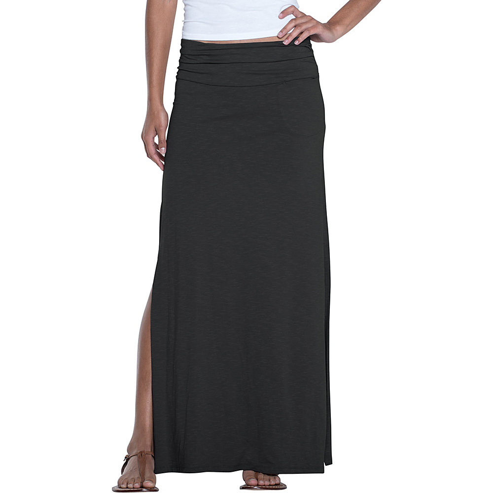Toad & Co Montauket Long Skirt L - Black - Toad & Co Womens Apparel - Apparel & Footwear, Women's Apparel