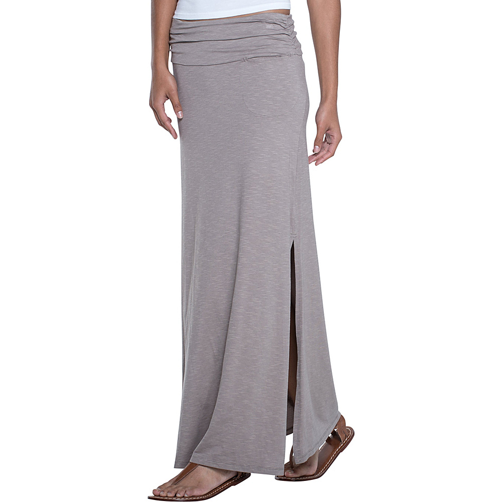 Toad & Co Montauket Long Skirt XL - Cocoa - Toad & Co Womens Apparel - Apparel & Footwear, Women's Apparel