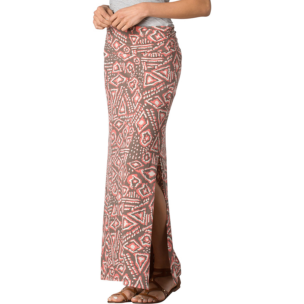 Toad & Co Montauket Long Skirt M - Falcon Brown Brush Print - Toad & Co Womens Apparel - Apparel & Footwear, Women's Apparel