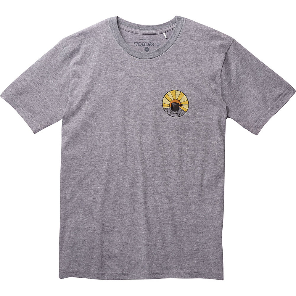 Toad & Co Wake Up to This Graphic Tee XXL - Gray Heather - Toad & Co Mens Apparel - Apparel & Footwear, Men's Apparel