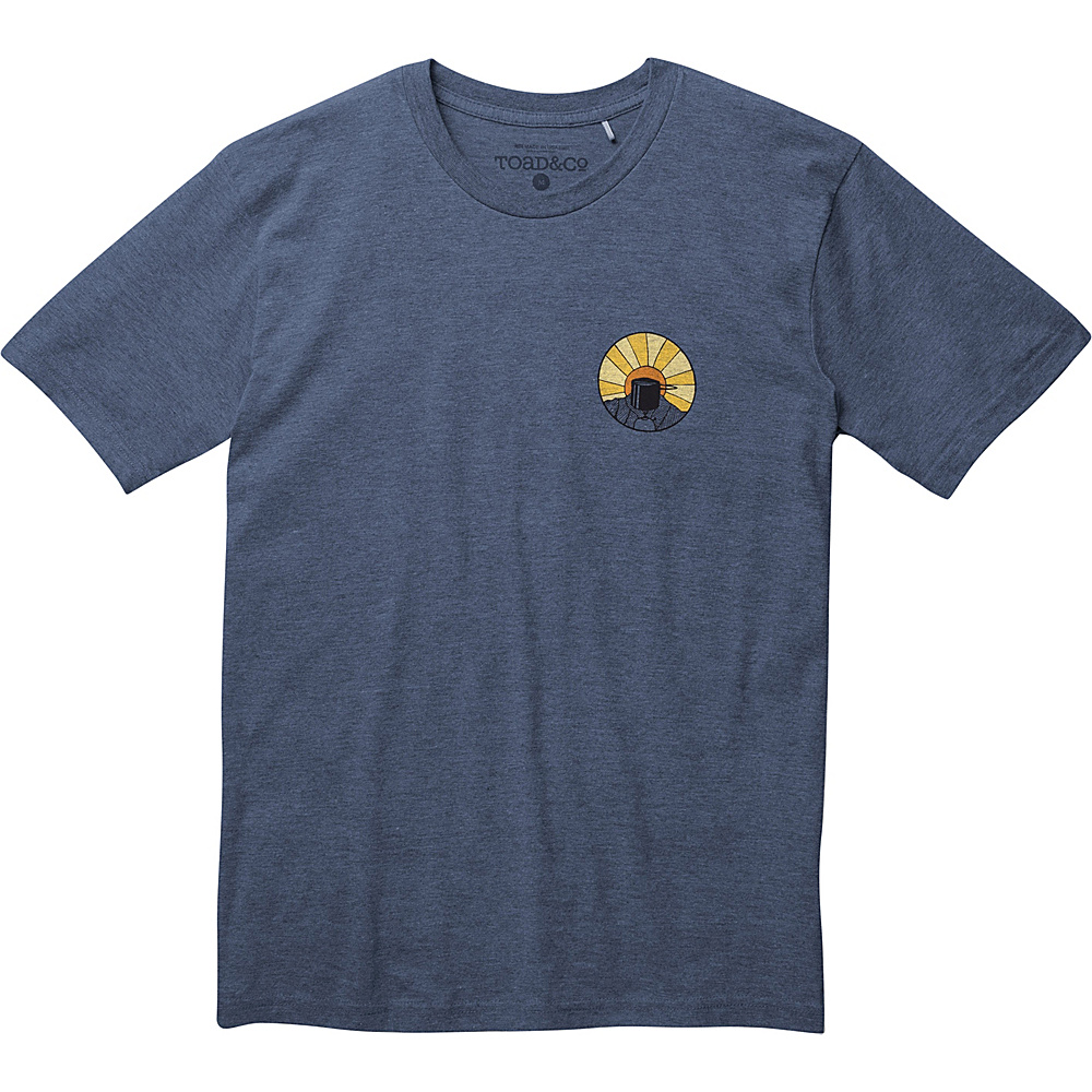 Toad & Co Wake Up to This Graphic Tee L - Navy Heather - Toad & Co Mens Apparel - Apparel & Footwear, Men's Apparel