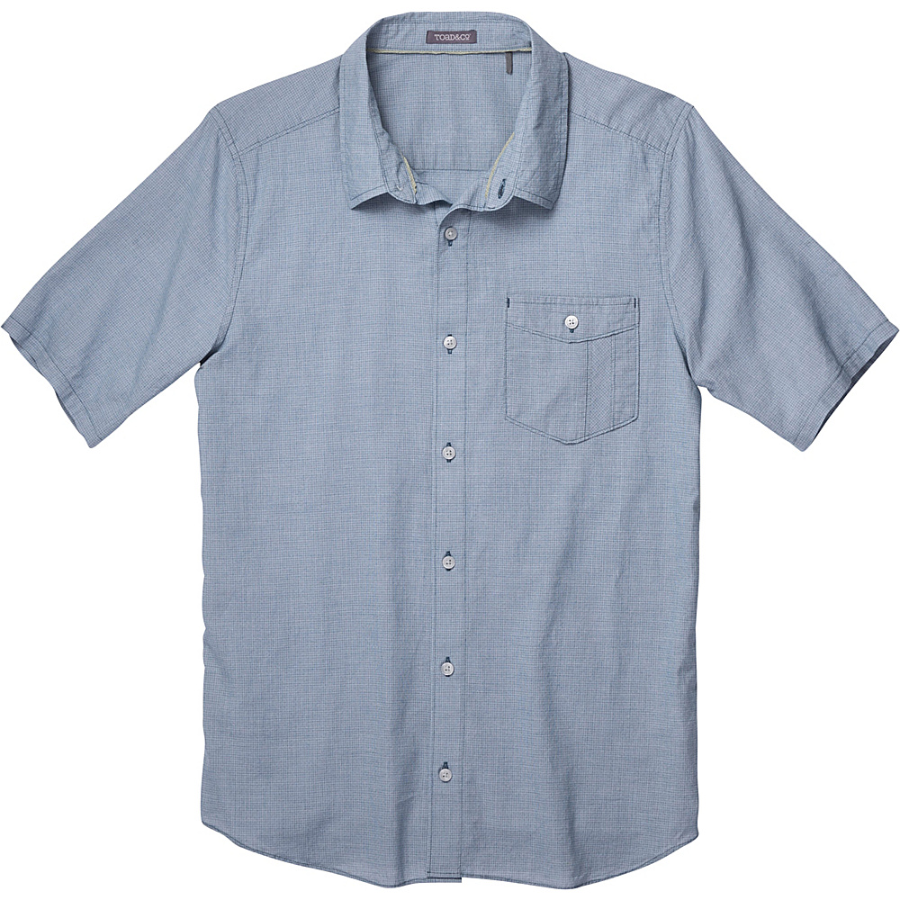 Toad & Co Airbrush Short Sleeve Shirt XXL - Blue Abyss - Toad & Co Mens Apparel - Apparel & Footwear, Men's Apparel