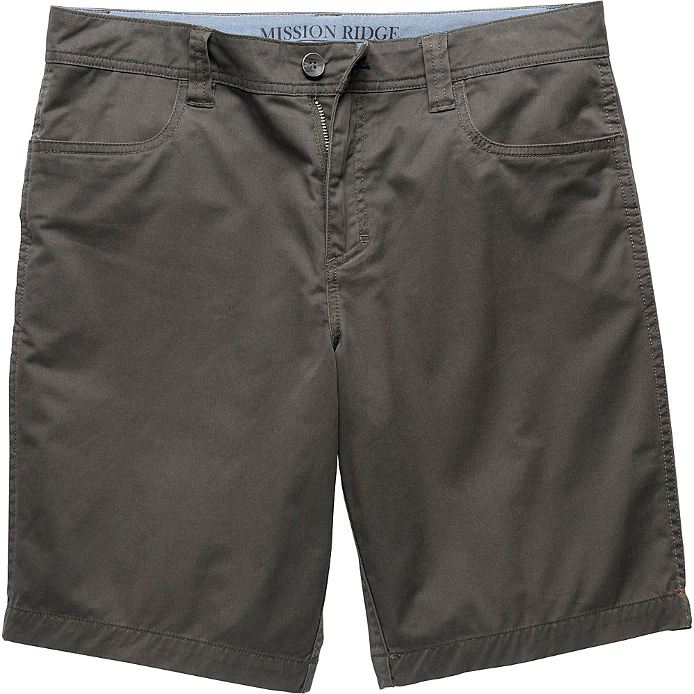 Toad & Co Mission Ridge Short 10.5 Inch 30 - Dark Graphite - Toad & Co Mens Apparel - Apparel & Footwear, Men's Apparel