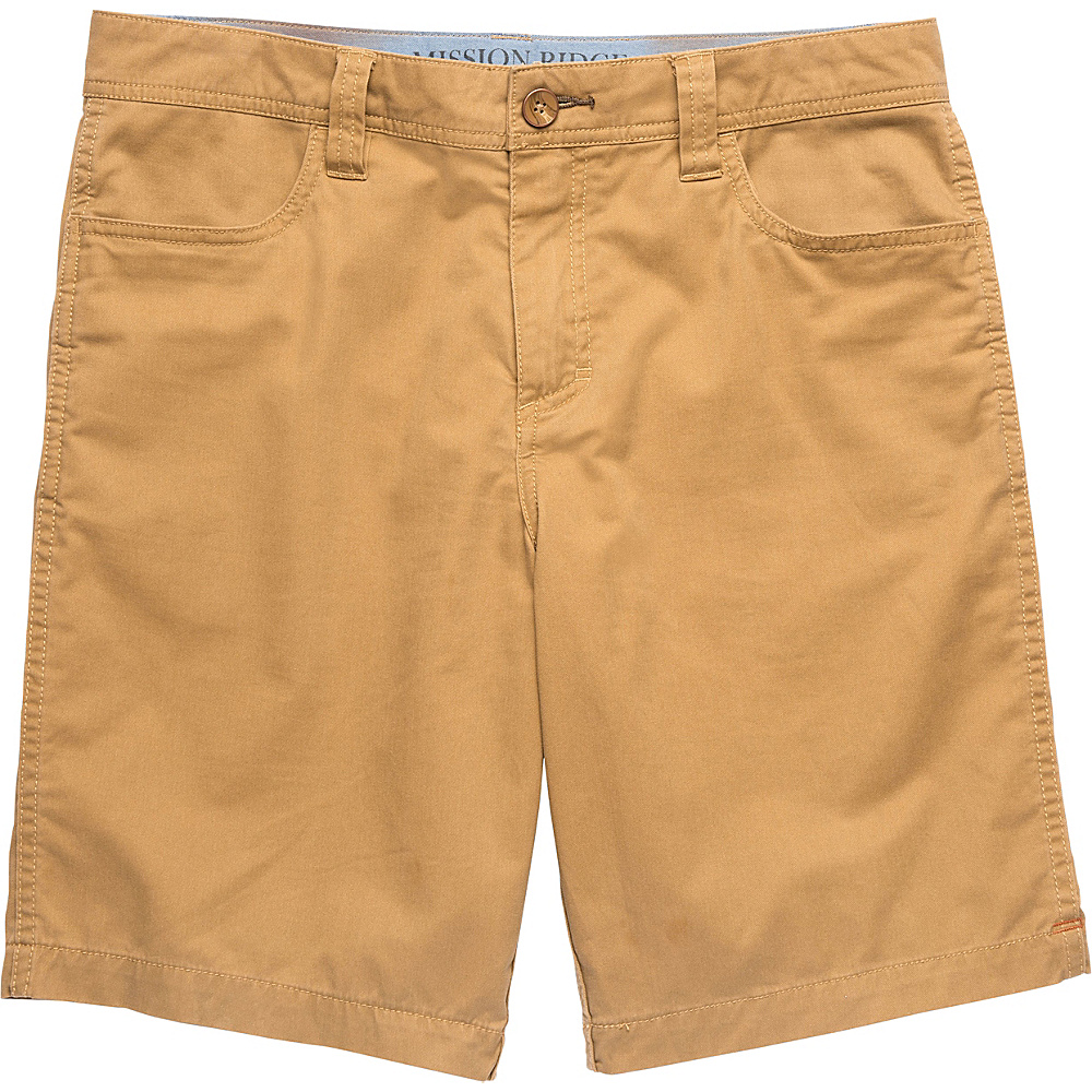 Toad & Co Mission Ridge Short 10.5 Inch 36 - Honey Brown - Toad & Co Mens Apparel - Apparel & Footwear, Men's Apparel