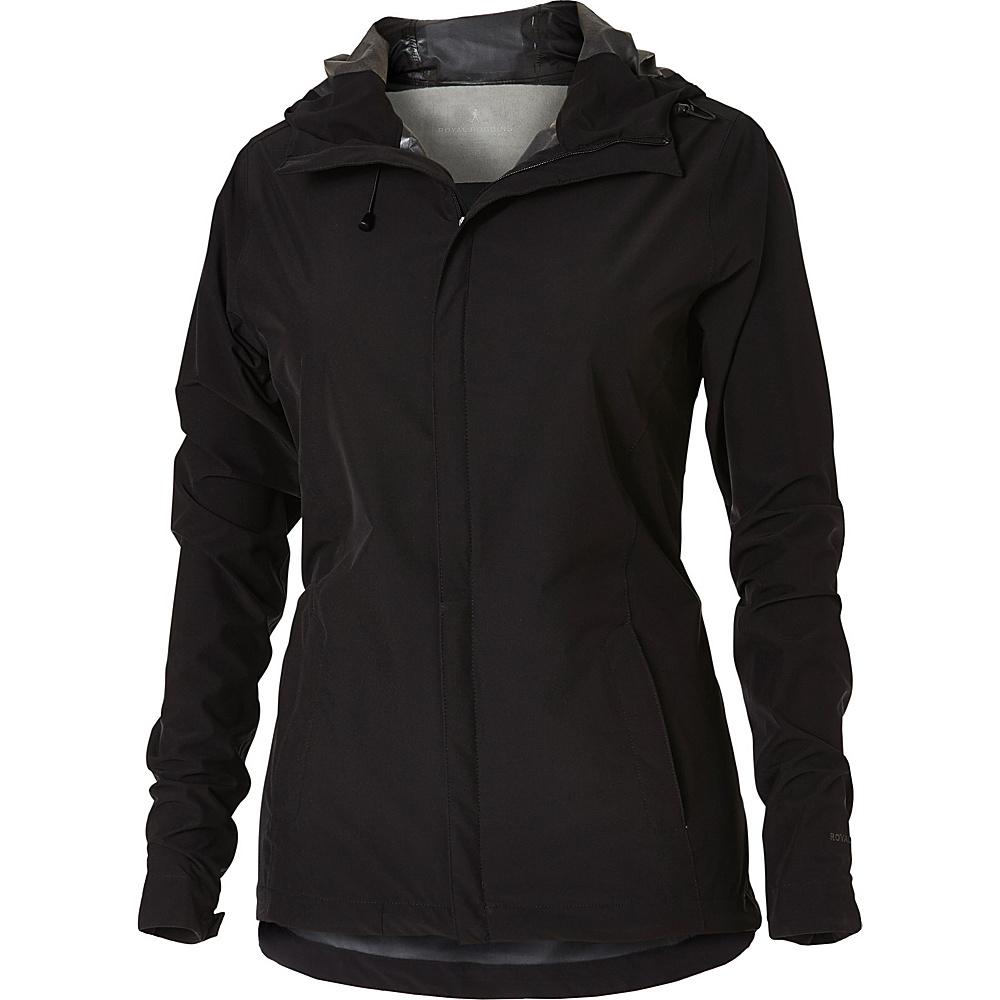 Royal Robbins Womens Oakham Waterproof Jacket L - Jet Black - Royal Robbins Womens Apparel - Apparel & Footwear, Women's Apparel