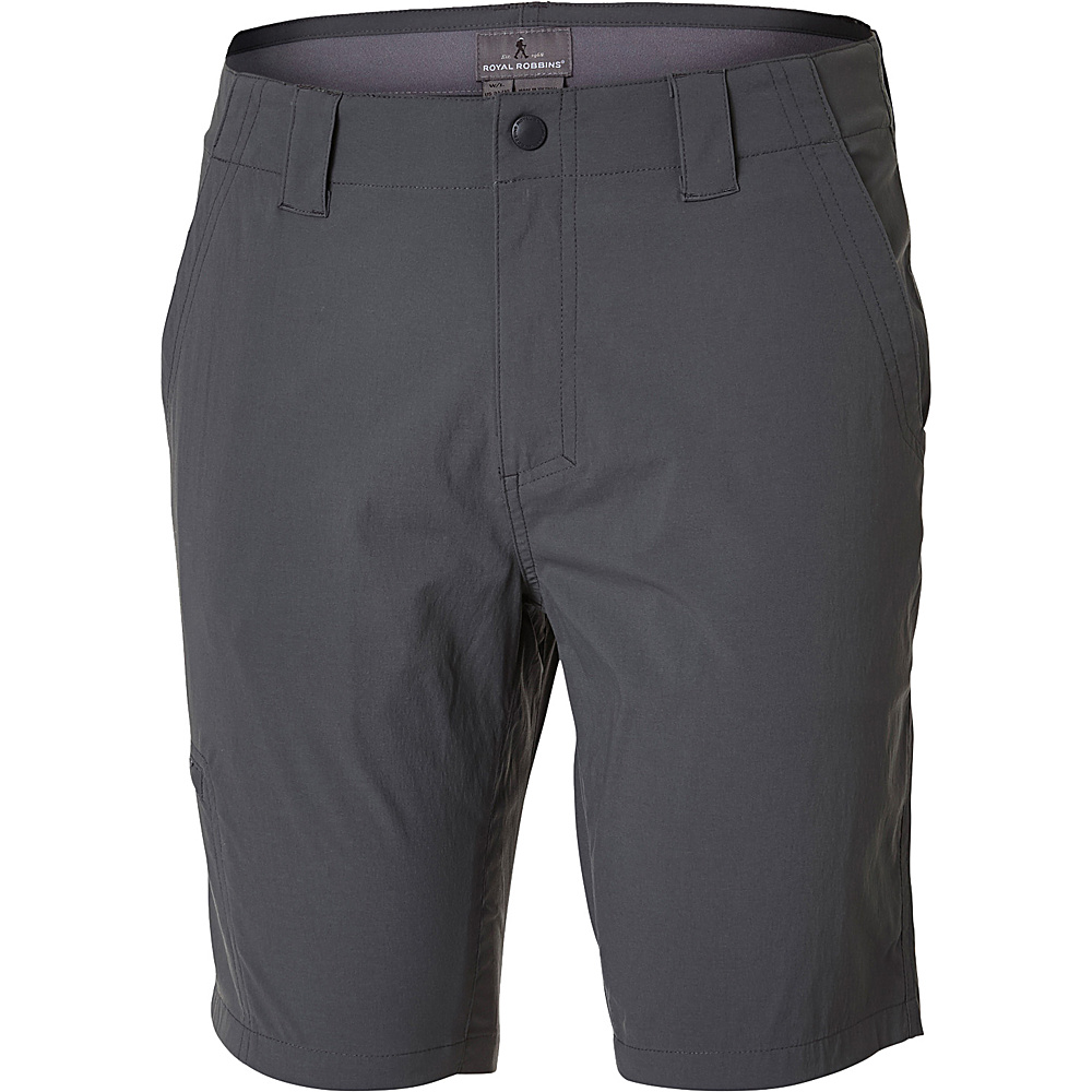 Royal Robbins Mens Everyday Traveler Short 36 - 10in - Charcoal - Royal Robbins Mens Apparel - Apparel & Footwear, Men's Apparel