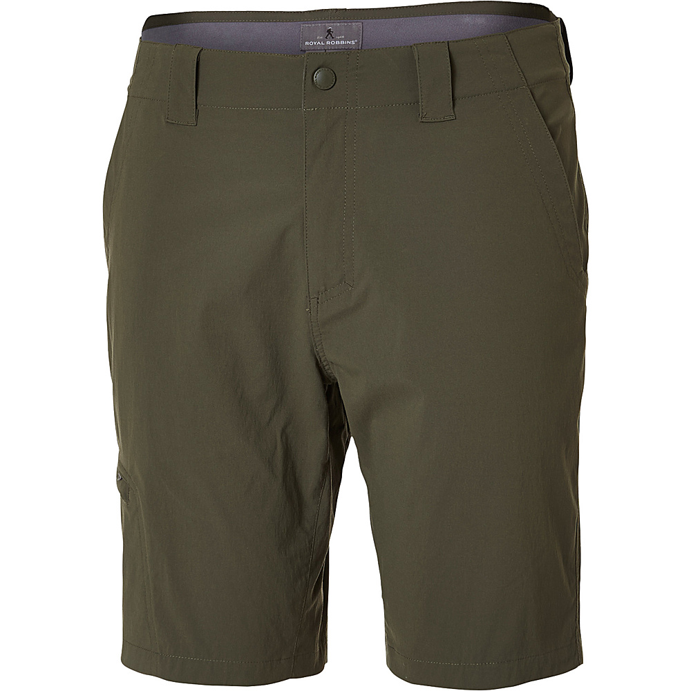 Royal Robbins Mens Everyday Traveler Short 35 - 10in - Loden - Royal Robbins Mens Apparel - Apparel & Footwear, Men's Apparel