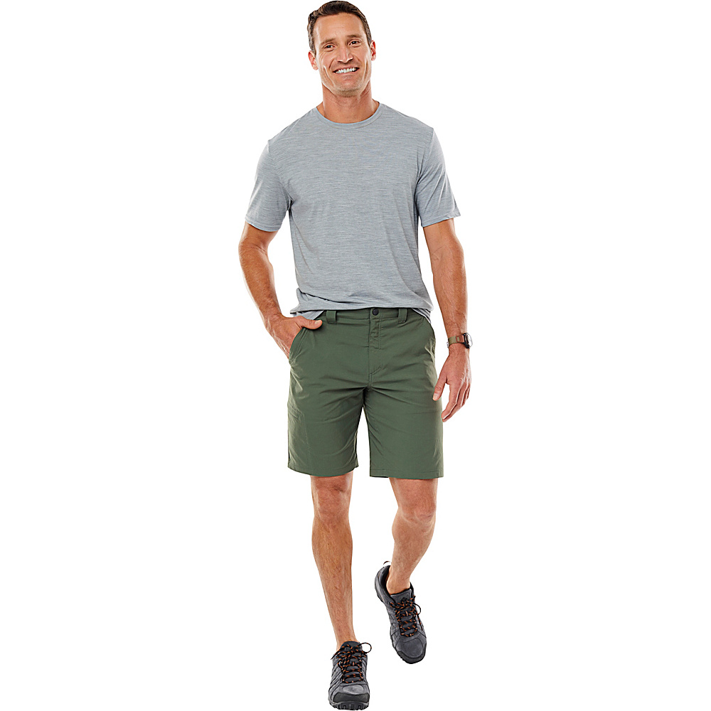 Royal Robbins Mens Everyday Traveler Short 44 - 10in - Bayleaf - Royal Robbins Mens Apparel - Apparel & Footwear, Men's Apparel