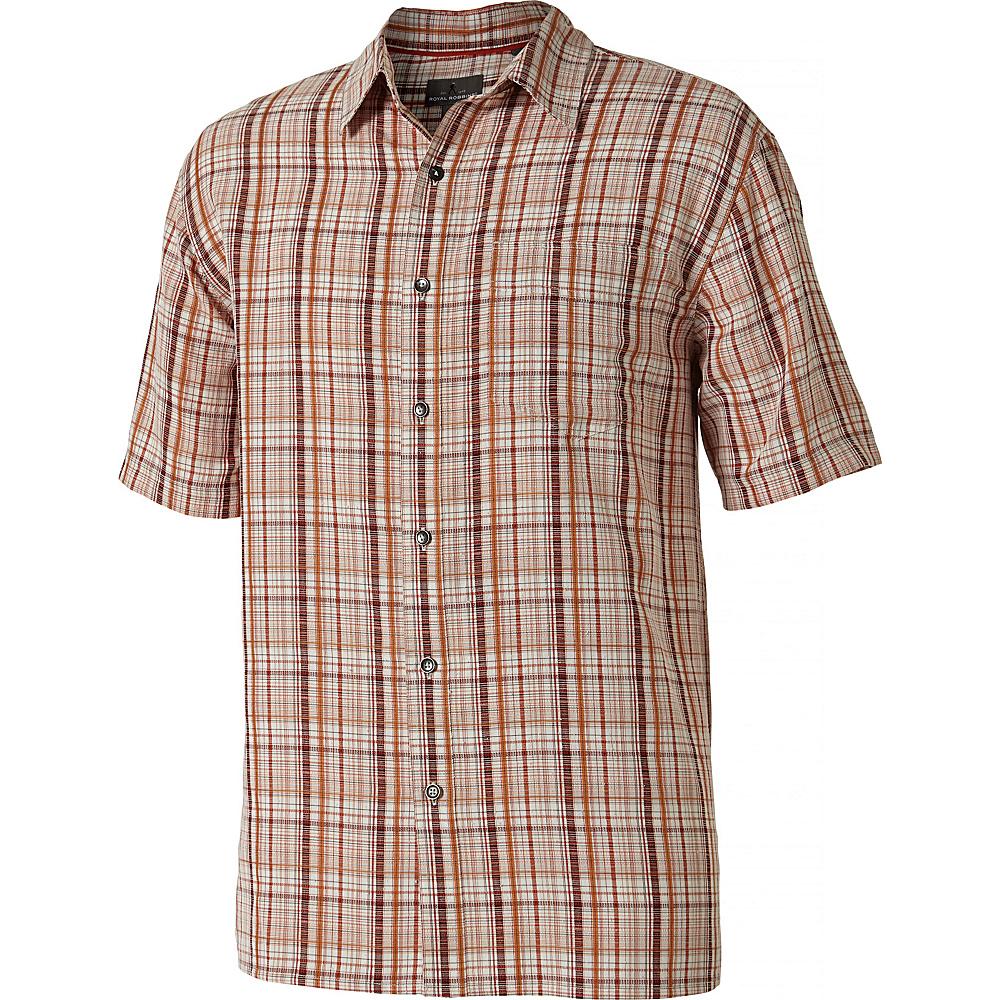 Royal Robbins Mens Pilat Plaid Short Sleeve Shirt L - Crimson - Royal Robbins Mens Apparel - Apparel & Footwear, Men's Apparel