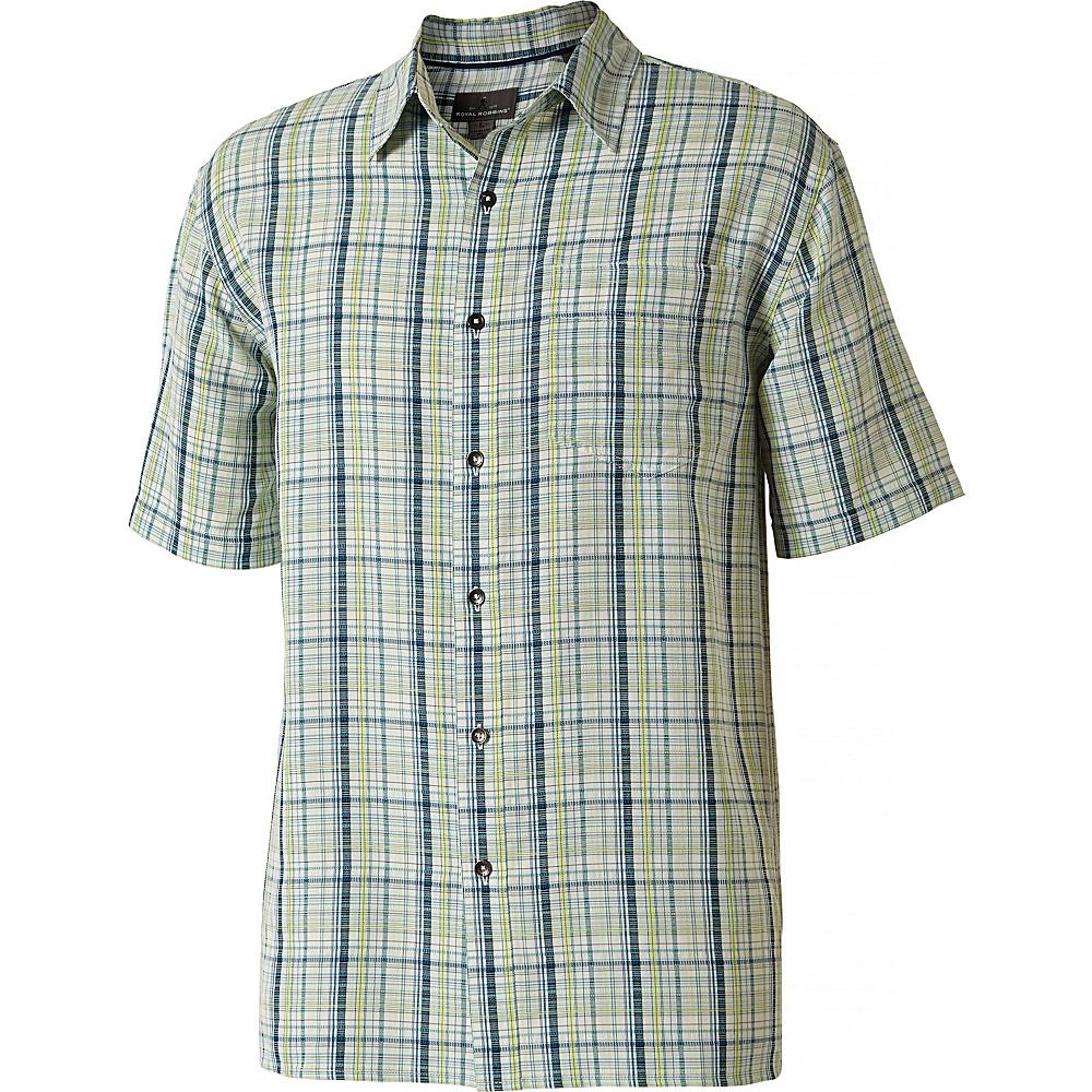Royal Robbins Mens Pilat Plaid Short Sleeve Shirt S - Bluejay - Royal Robbins Mens Apparel - Apparel & Footwear, Men's Apparel
