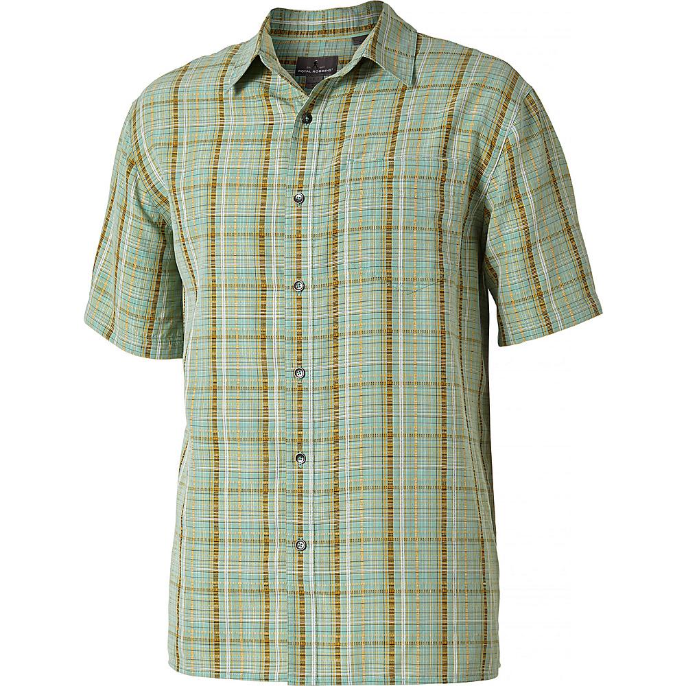 Royal Robbins Mens Pilat Plaid Short Sleeve Shirt M - Bowden - Royal Robbins Mens Apparel - Apparel & Footwear, Men's Apparel