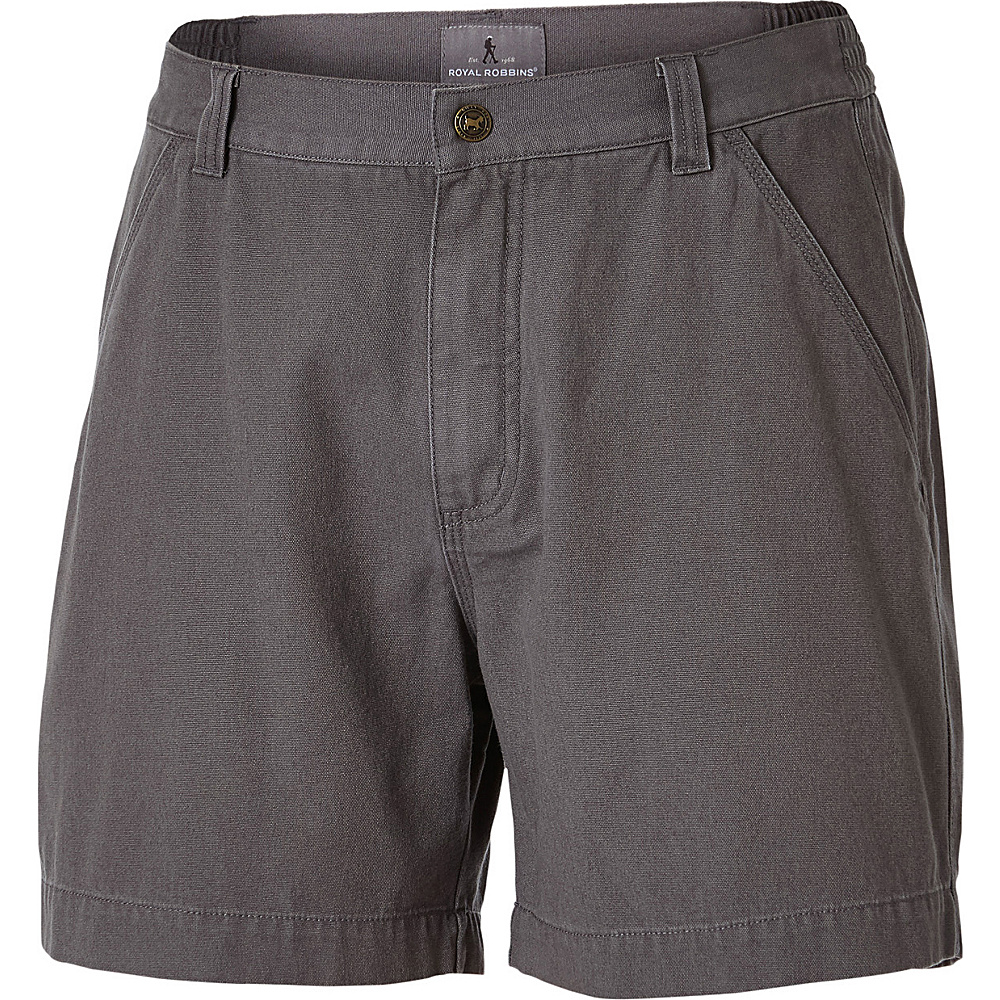 Royal Robbins Mens Billy Goat Short 30 - 6in - Pewter - Royal Robbins Mens Apparel - Apparel & Footwear, Men's Apparel