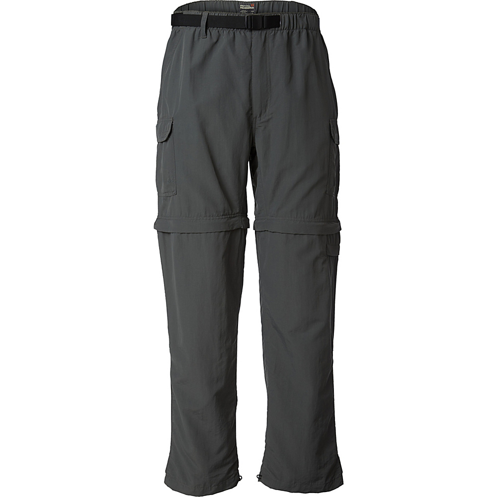 Royal Robbins Mens Zip N Go Pant XXL - 34in - Obsidian - Royal Robbins Mens Apparel - Apparel & Footwear, Men's Apparel
