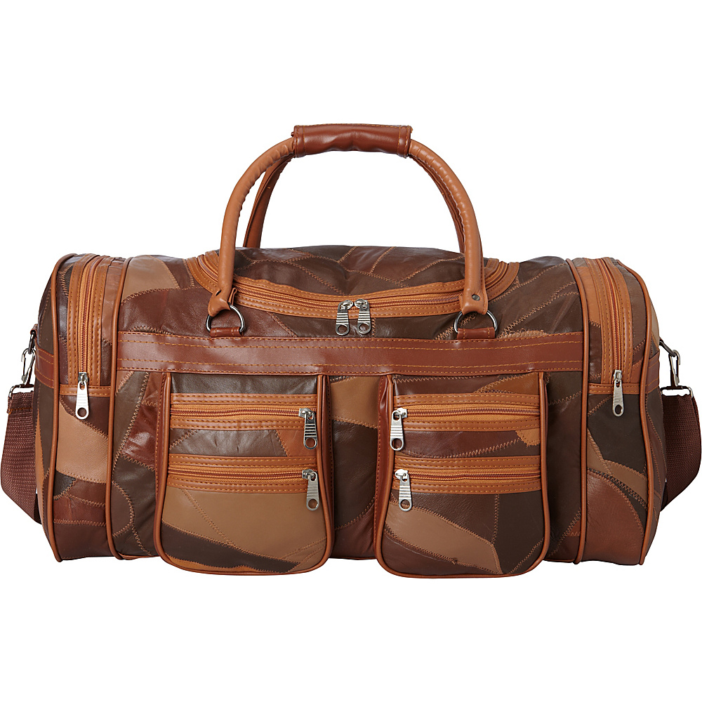 Sharo Leather Bags Italian Soft Leather Duffle And Carry On Bag Brown Sharo Leather Bags Luggage Totes And Satchels