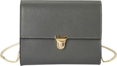 Massimo Castelli Clutch Grey - Massimo Castelli Leather Handbags