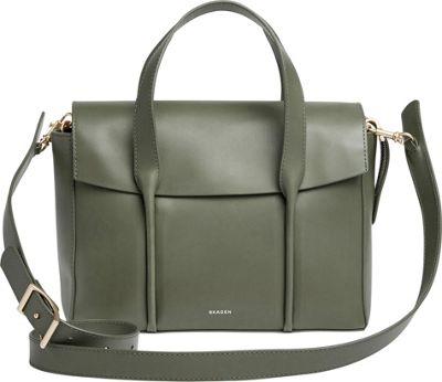 Skagen Beatrix Medium Leather Flap Satchel Agave - Skagen Leather Handbags