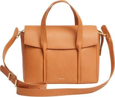 Skagen Beatrix Medium Leather Flap Satchel Tan - Skagen Leather Handbags