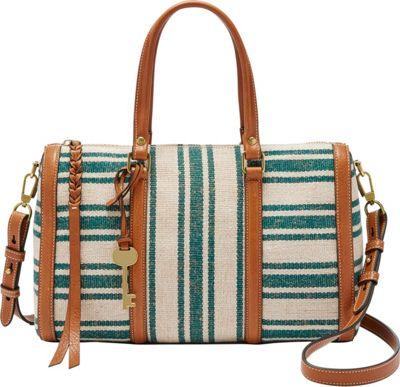 Fossil Kendall Satchel Teal Green - Fossil Manmade Handbags