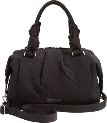Vera Bradley Hadley Satchel - Solids Classic Black - Vera Bradley Fabric Handbags