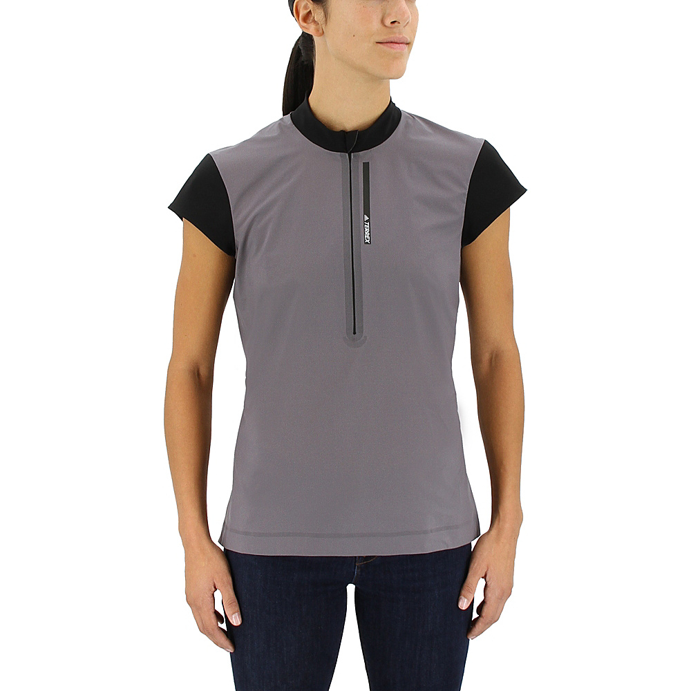 adidas outdoor Womens Agravic Wind Shirt XS - Trace Grey - adidas outdoor Womens Apparel - Apparel & Footwear, Women's Apparel