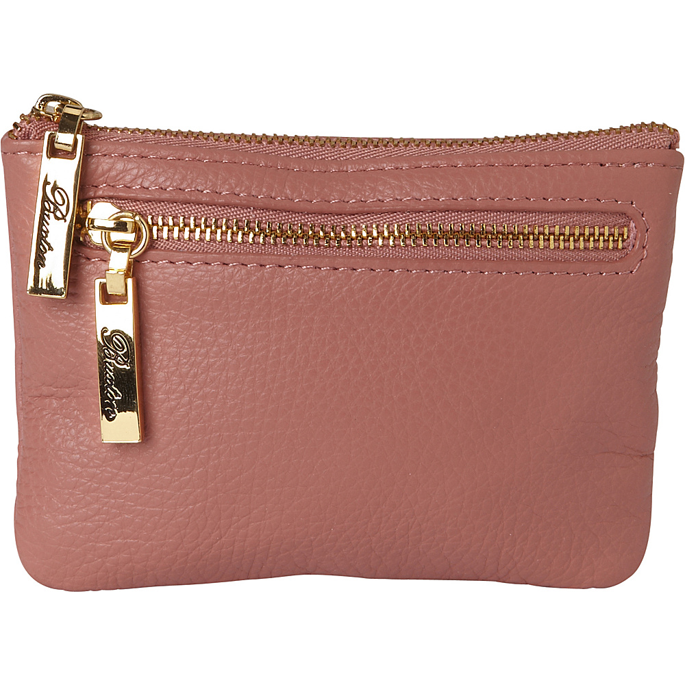 Buxton Florence Mini Zip Pouch Pink - Buxton Womens Wallets - Women's SLG, Women's Wallets