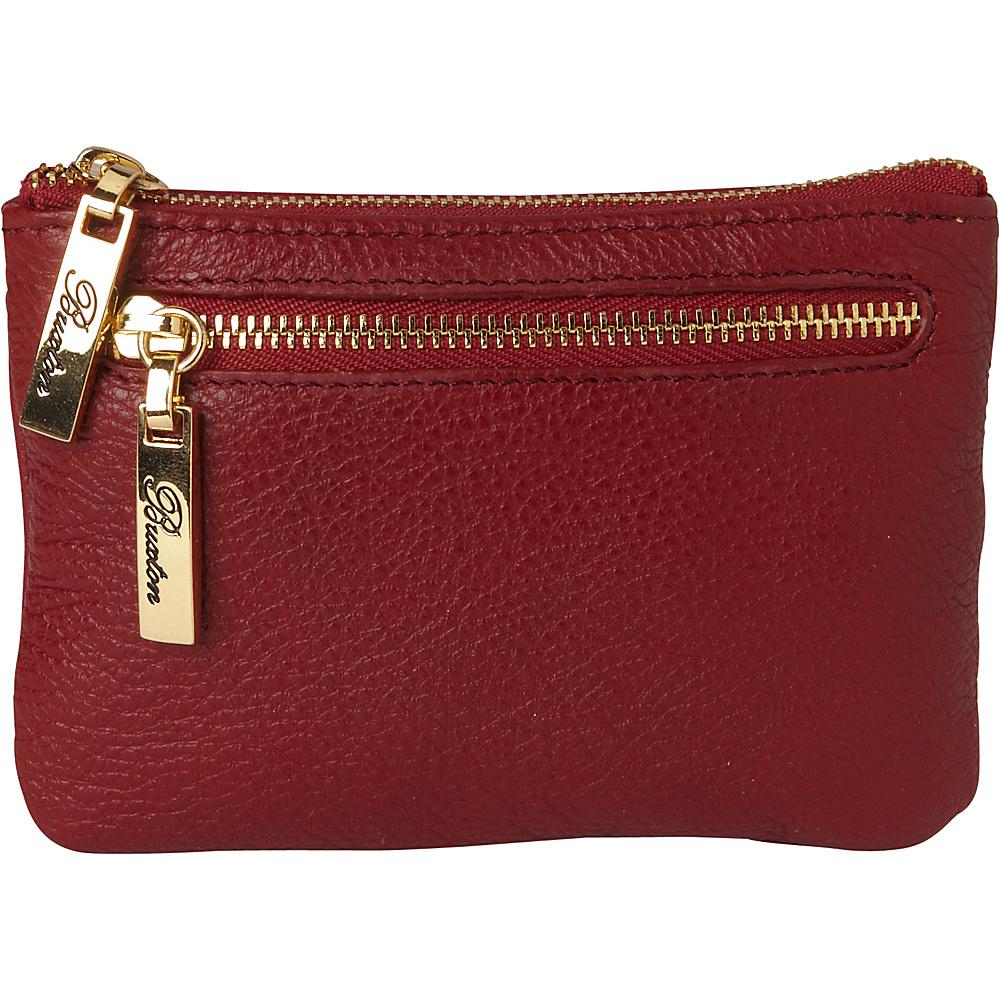 Buxton Florence Mini Zip Pouch Red - Buxton Womens Wallets - Women's SLG, Women's Wallets