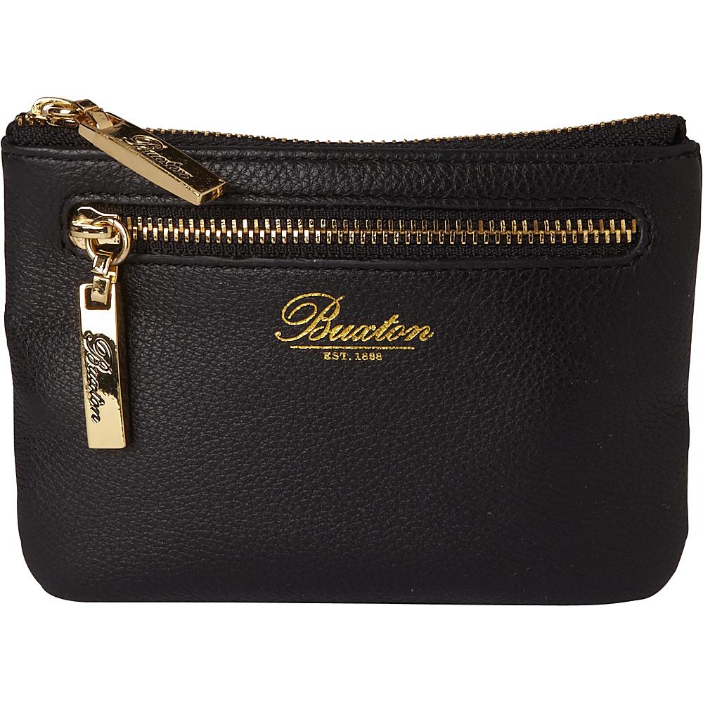 Buxton Florence Mini Zip Pouch Black - Buxton Womens Wallets - Women's SLG, Women's Wallets