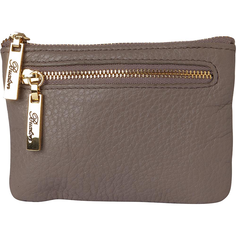 Buxton Florence Mini Zip Pouch Medium Grey - Buxton Womens Wallets - Women's SLG, Women's Wallets