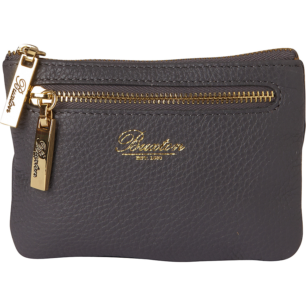 Buxton Florence Mini Zip Pouch Grey - Buxton Womens Wallets - Women's SLG, Women's Wallets