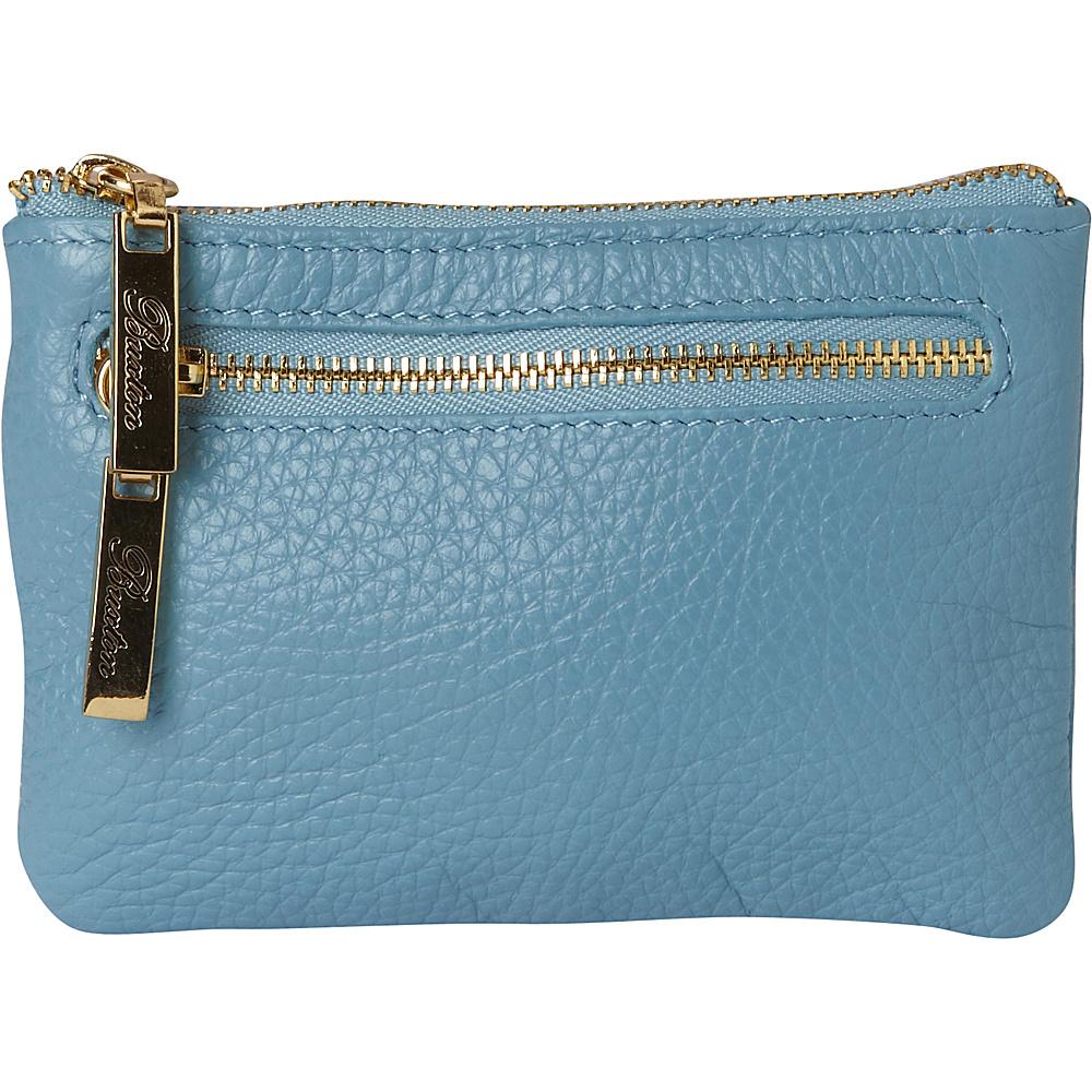 Buxton Florence Mini Zip Pouch Ocean Blue - Buxton Womens Wallets - Women's SLG, Women's Wallets