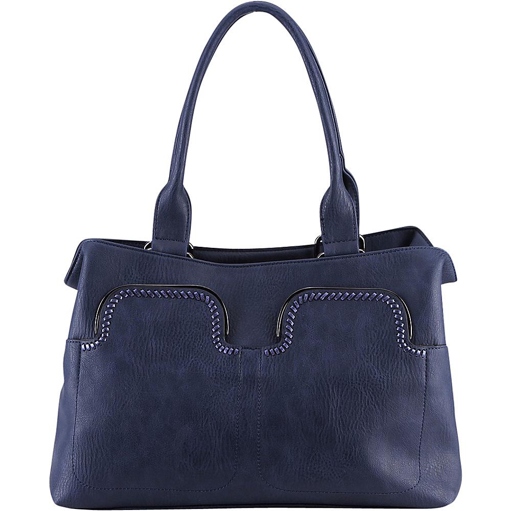 MKF Collection Zyana Handbag Blue - MKF Collection Manmade Handbags - Handbags, Manmade Handbags