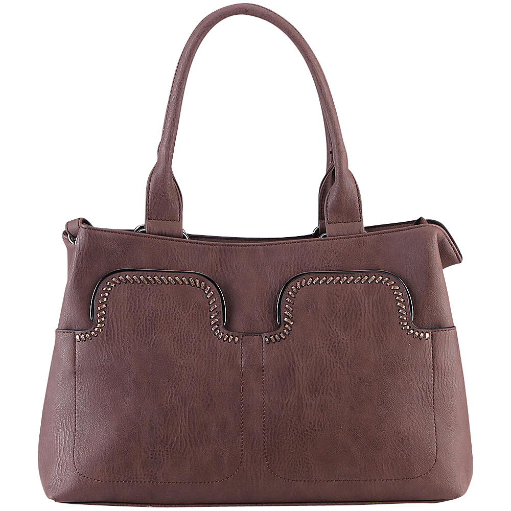 MKF Collection Zyana Handbag Coffee - MKF Collection Manmade Handbags - Handbags, Manmade Handbags