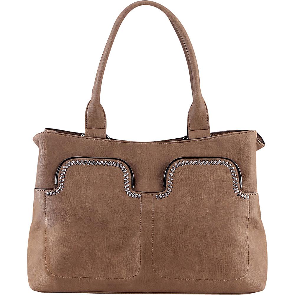 MKF Collection Zyana Handbag Khaki - MKF Collection Manmade Handbags - Handbags, Manmade Handbags