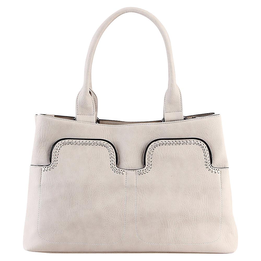 MKF Collection Zyana Handbag Off White - MKF Collection Manmade Handbags - Handbags, Manmade Handbags