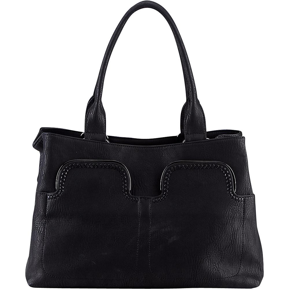 MKF Collection Zyana Handbag Black - MKF Collection Manmade Handbags - Handbags, Manmade Handbags