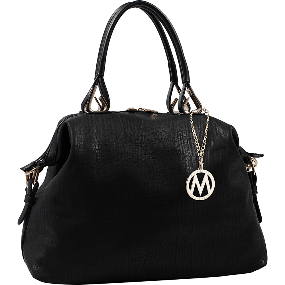 MKF Collection Angelina Duffle Bag Black - MKF Collection Manmade Handbags - Handbags, Manmade Handbags