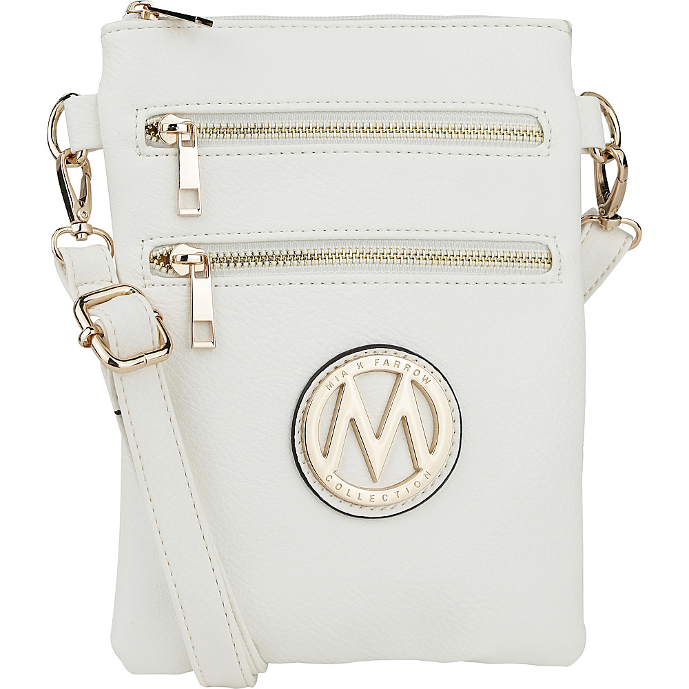 MKF Collection by Mia K. Farrow Medina Crossbody White - MKF Collection by Mia K. Farrow Manmade Handbags - Handbags, Manmade Handbags